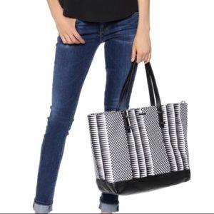Rebecca Minkoff Black & White Checkered Tote Bag